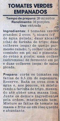 RECEITA DE TOMATES VERDES FRITOS EMPANADOS
