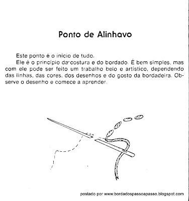 ESQUEMA DE PONTO ALINHAVO