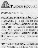 RECEITA DE PANÔ EM CROCHE