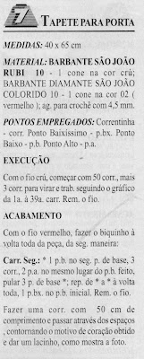 RECEITAS DE TAPETE DE CROCHE FILE
