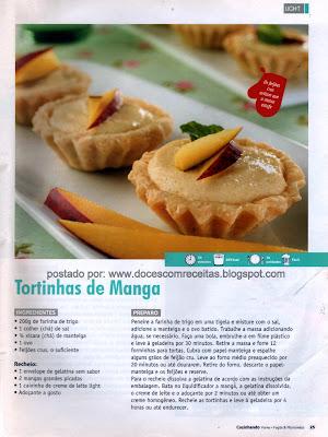 RECEITAS DE TORTINHAS DE MANGA