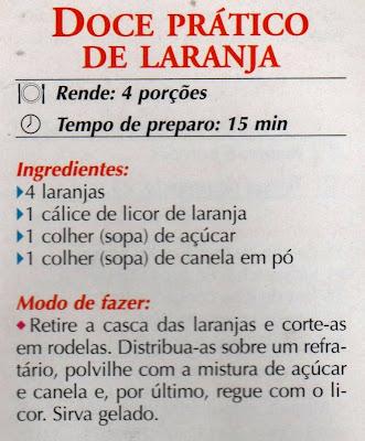 RECEITA DE DOCE PRÁTICO DE LARANJA