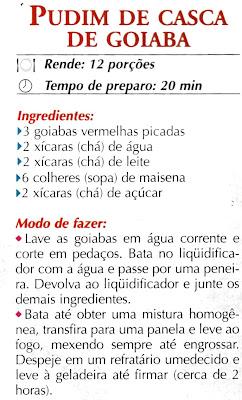 PUDIM DE CASCA DE GOIABA