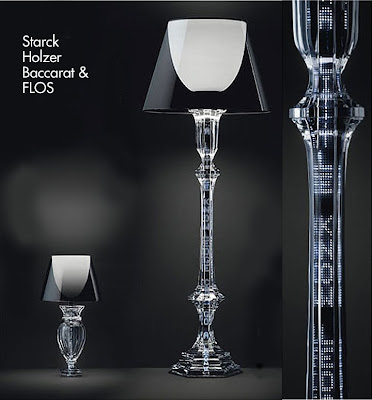 conceptual art lighting by holzer starck flos and baccarat if it 39 s hip it 39 s here. Black Bedroom Furniture Sets. Home Design Ideas