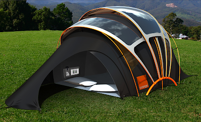 ... while on site and undertook this concept project to look at how the festival goers communication and power supply needs might be met in the future. & The Chill nu0027 Charge Solar Tent From Orange - if itu0027s hip itu0027s here