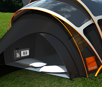 The Concept Tent has been designed in association with American product design consultancy Kaleidoscope and builds on learnings from the original Orange ... & The Chill nu0027 Charge Solar Tent From Orange - if itu0027s hip itu0027s here