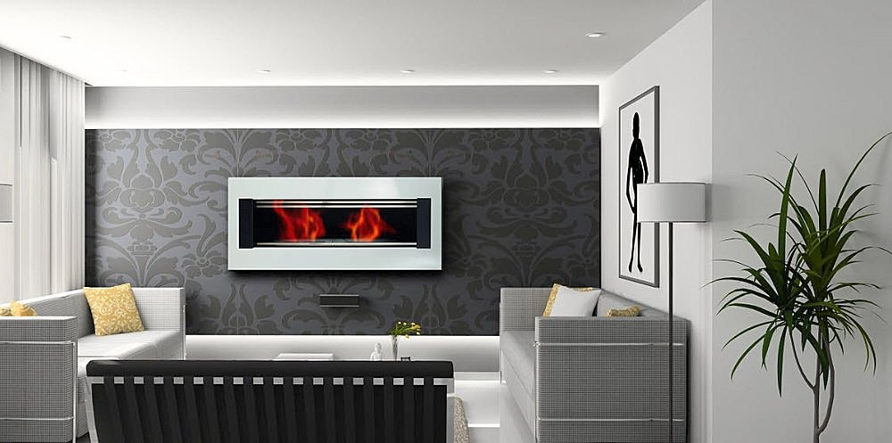 Contemporary Tv Above Fireplace Small Room