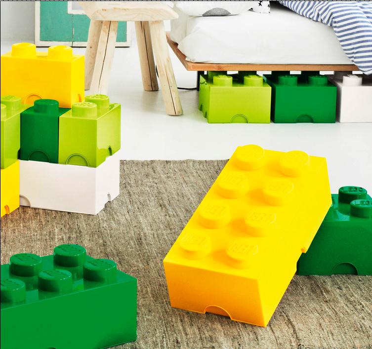 Giant Glossy Lego® Storage Blocks In Nine Fun Colors.