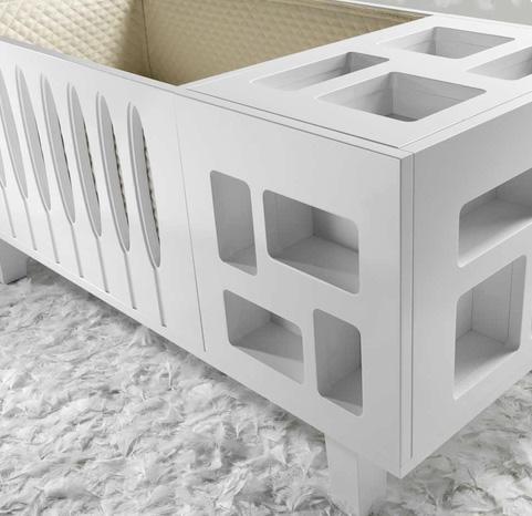 Crib Transforms To Twin Bed Wicker Furniture