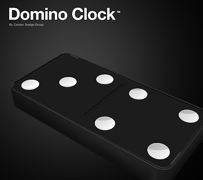 The Domino Wall Clock From The Carbon Design Group Seen On www.coolpicturegallery.us