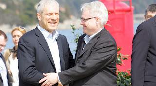 I presidenti Tadic e Josipovic (Foto tratta da Vijesti.net)