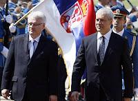 Il presidente croato Josipovic incontra quello serbo Tadic a Belgrado il 18 luglio 2010