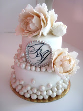 Peony Wedding Cake by Linda From o&#39;holy Sweets Confections