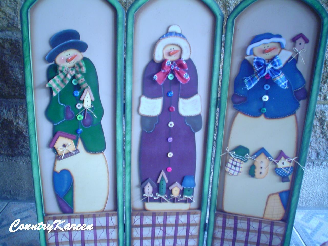 Muecos De Nieve En Madera Country | Consejos De Fotografía