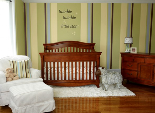 brighton beach baby girls nursery room design and decorating ideas by