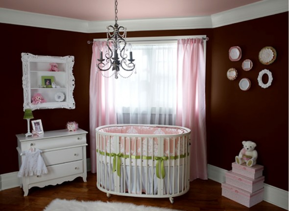 Home design interior decor home furniture for Baby girls bedroom designs