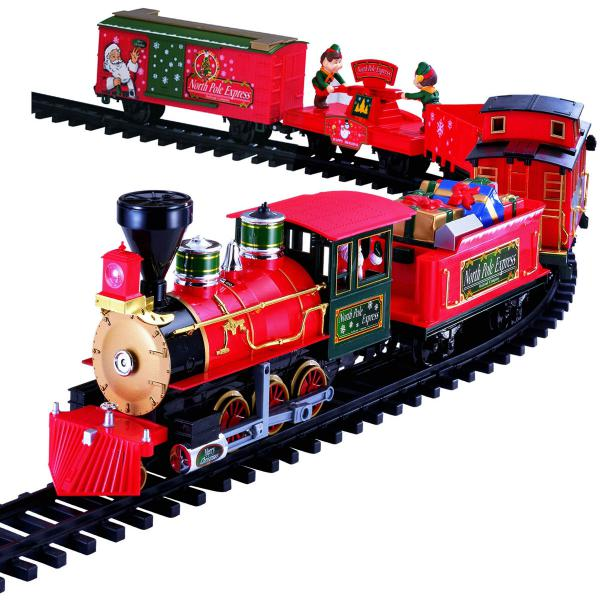 deluxe remote control 36pc north pole express train set for christmas - North Pole Junction Christmas Train
