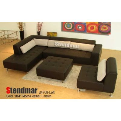 Modern Leather Sectional on 4pc Modern Euro Design Leather Sectional Sofa S4708 By Stendmar