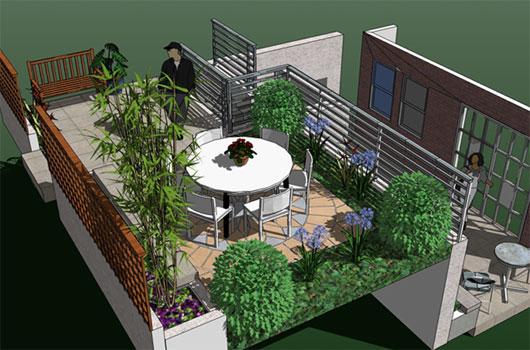 Green Terrace Garden Furniture Design Ideas - Home Design Inspirations