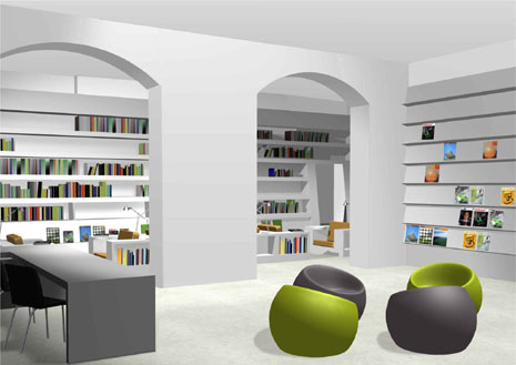 Brighton beach comfortable and luxury library design for Home library designs interior design