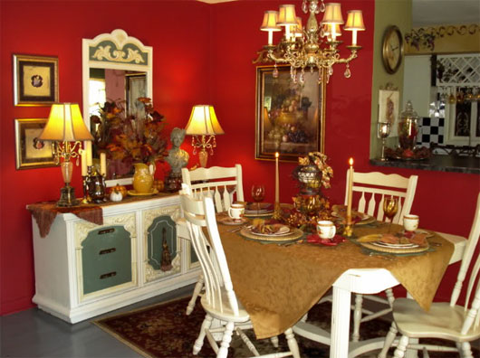 Home design interior decor home furniture for French dining room decorating ideas