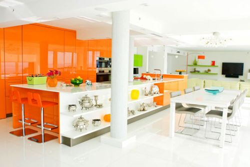 Home design interior decor home furniture for Bright kitchen decorating ideas