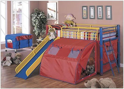 Childrens Bunk Beds  Cabinets on 2011 Bunk Beds For Kids With Slides And Tent   Wonderful Home Design