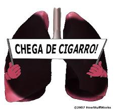 Deixar de fumar um cheiro de uma boca