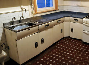 vintage English Rose kitchen units