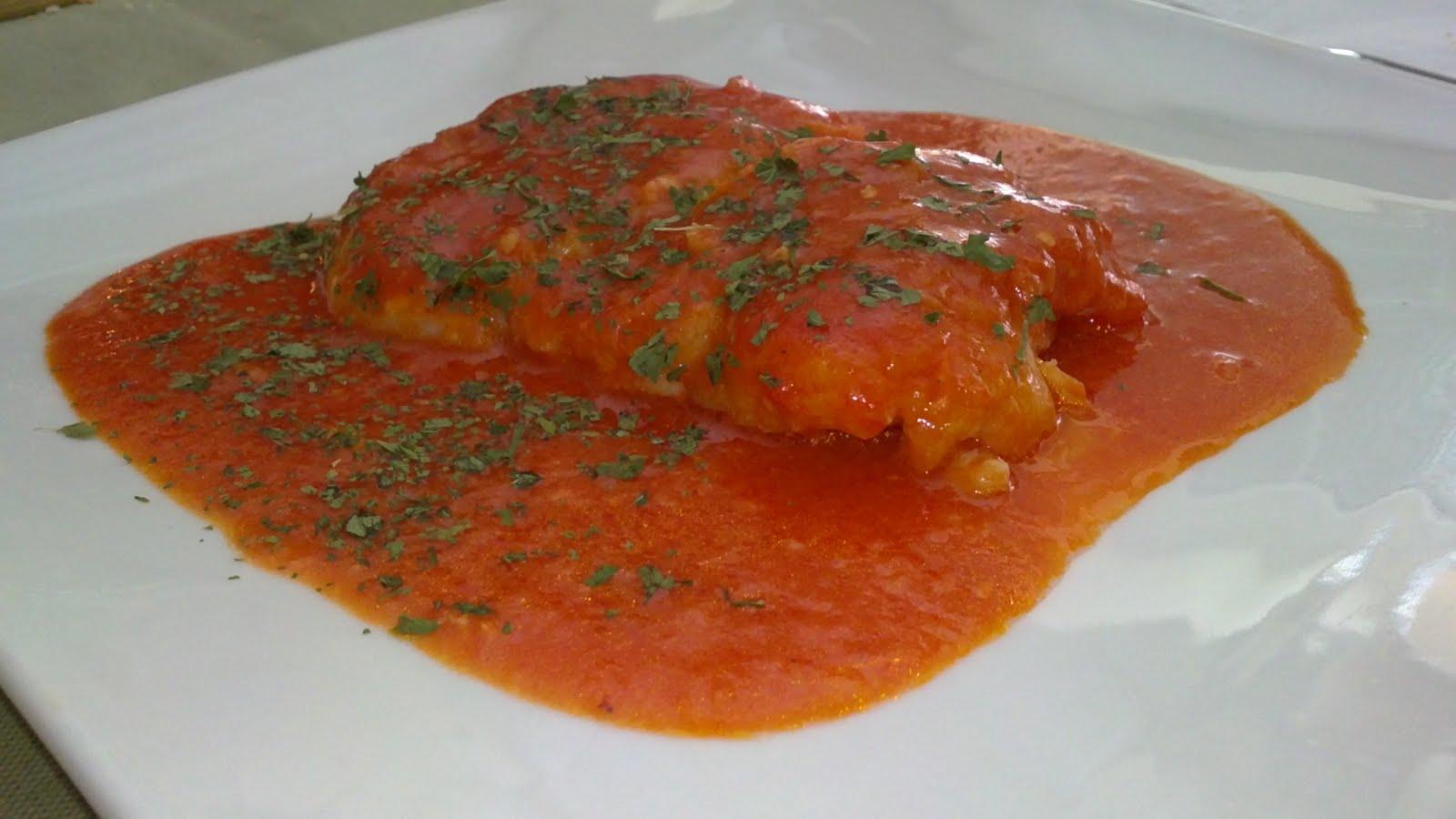 El sibarita pobre bacalao en salsa de pimientos del - Cocinar bacalao congelado ...