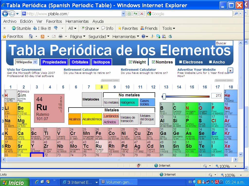 Clases de qumica tabla periodica tabla periodica urtaz Images