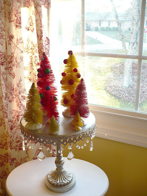 dyed bottle brush trees