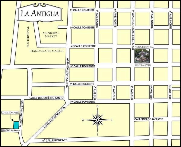 Mapa de Antigua-Chez Daniel