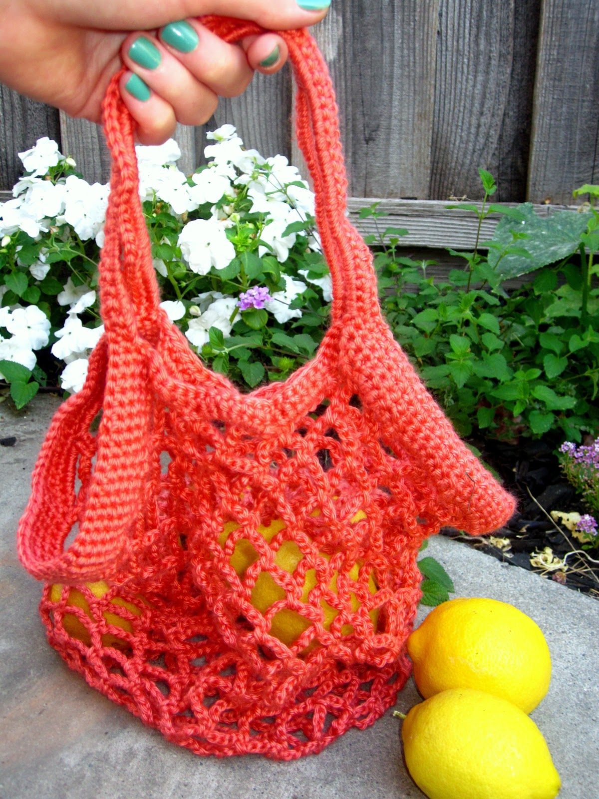 Easy Crochet Mesh Bag Pattern : More Fun With An Apron: Crochet Produce Bag