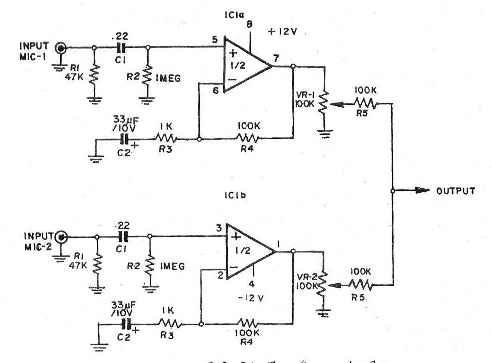 This is low noise tone control circuit using 4558 or NE55532 easy Ne Schematic on