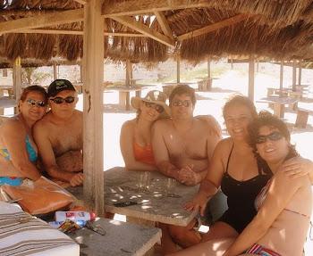 Família na praia...