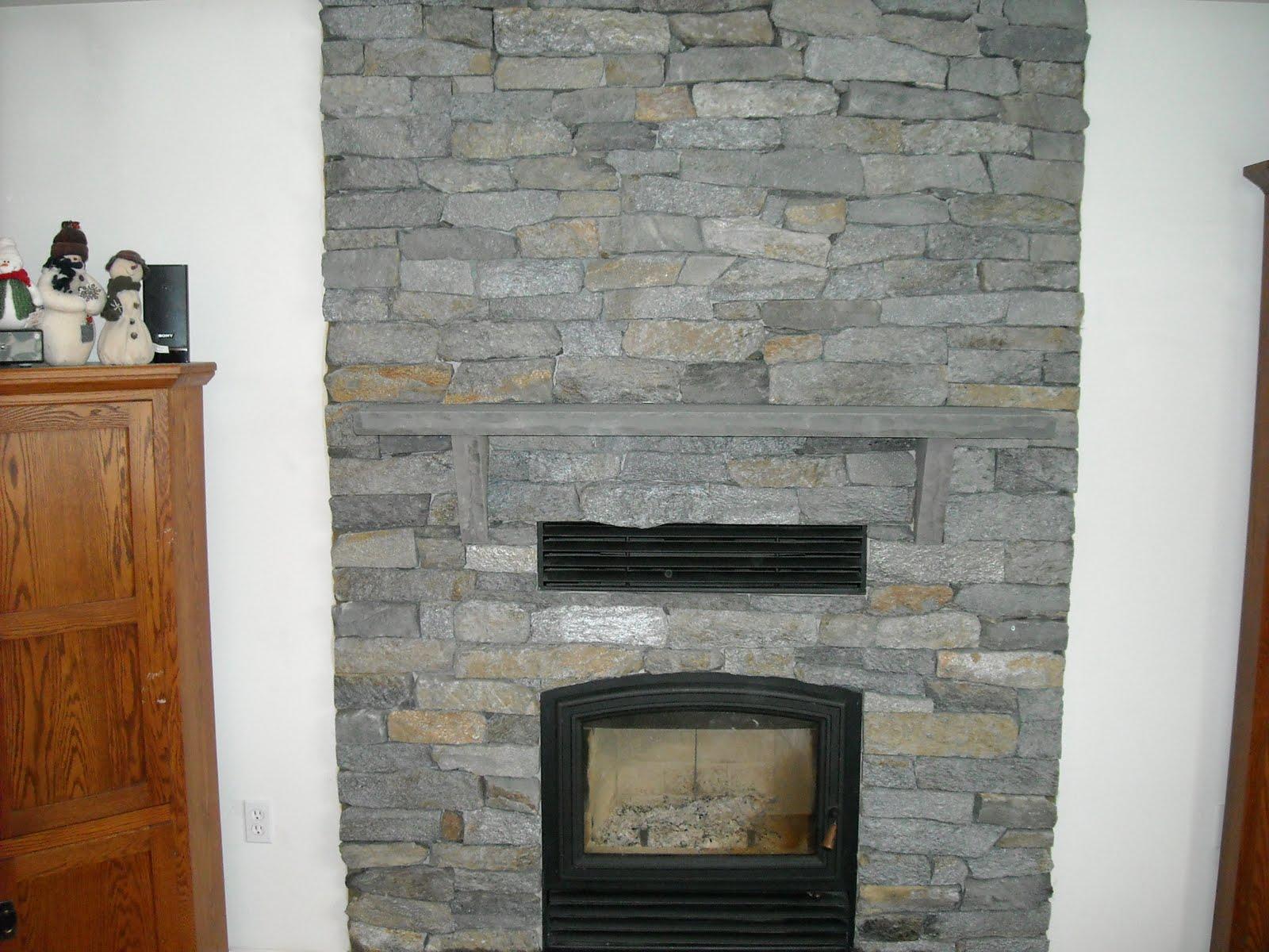 Image Stone Veneer Fireplace Download