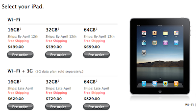 Apples iPad Preoder Dates Apple iPad : Déjà en Rupture de Stock ?!