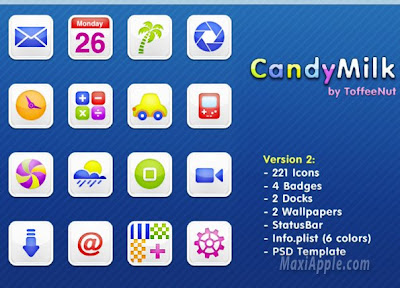 cnd01 iPhone CandyMilk : Theme Web 2 (gratuit)