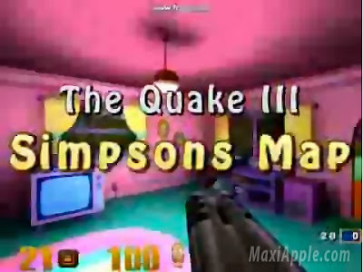 qksim01 Quake 3 : Geniale Map 3D des Simpsons (gratuit)