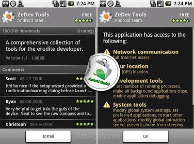 androidmarket2 Un AppStore pour Google Android (video et photos)