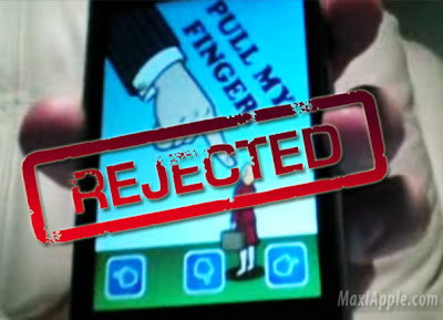 "finger rejected AppStore Censure : "" Pull My Finger "" Interdit (video)"