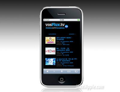 iphone vosflux VosFluxTV : La Télé sur iPhone (gratuit)