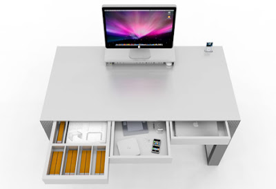 Simple desk pour imac et iphone bureau de pro images