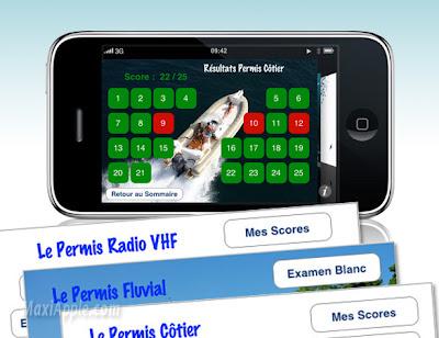 iphone permis nautiques - Permis Cotier et Fluvial 2009 sur iPhone (gratuit)
