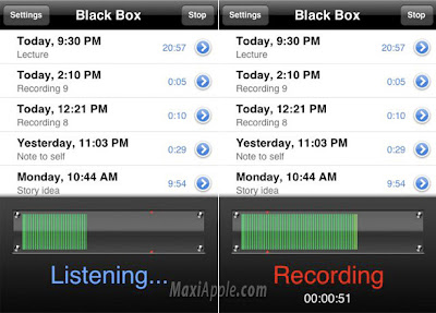 black box iphone 1 Black Box iPhone : Enregistreur Espion (gratuit)