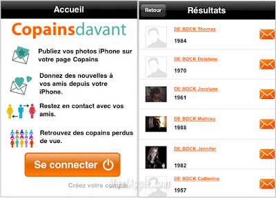 copaindavant iphone Copains dAvant sur iPhone : lApplication (gratuit)