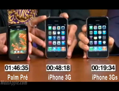 iphone3g iphone3gs palm iPhone 3GS vs iPhone 3G vs Palm : Test de Rapidité (video)