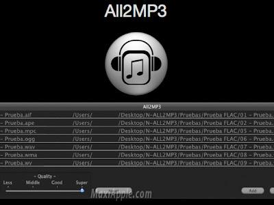 all2mp3 osx All2MP3 OSX : Convertisseur Audio Multiformat (gratuit)