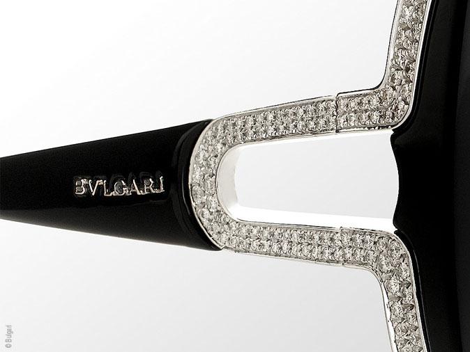 a793bd4e7eed Lunettes de Soleil Bulgari Parentesi   Edition Or et Diamants ...